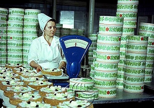 The Bolshevik factory cakes, USSR