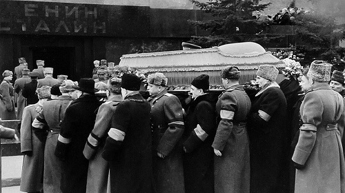 The funeral of Stalin, who died on March 5, 1953