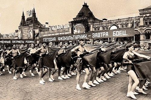 The parade of athletes. Moscow, 1919