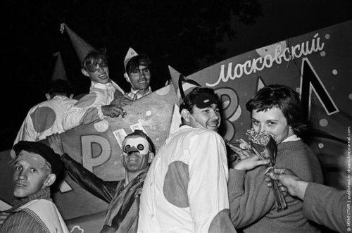 Viktor Akhlomov, 'At the carnival in the Gorky park'
