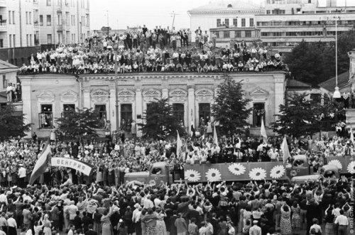 Viktor Akhlomov, 'Moscow, Garden Ring, VI World Festival of Youth and Students' in USSR, 1957