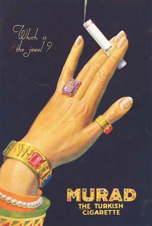 Vintage Cigarette ads in USSR