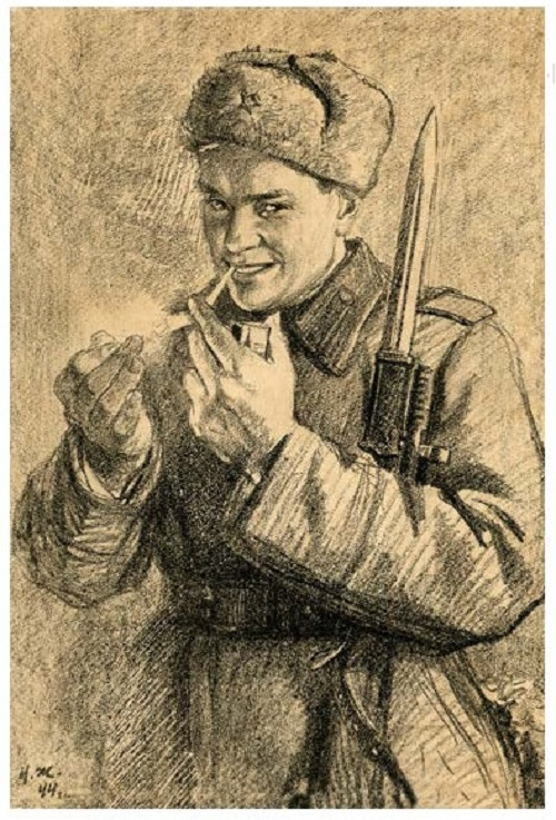 Soviet artist Nikolai Zhukov