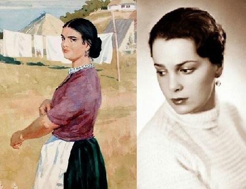 Aksinya by Artist Orest Vereisky and Elina Bystritskaya - amazing resemblance