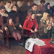 At the meeting, 1947. Kharkov museum of art