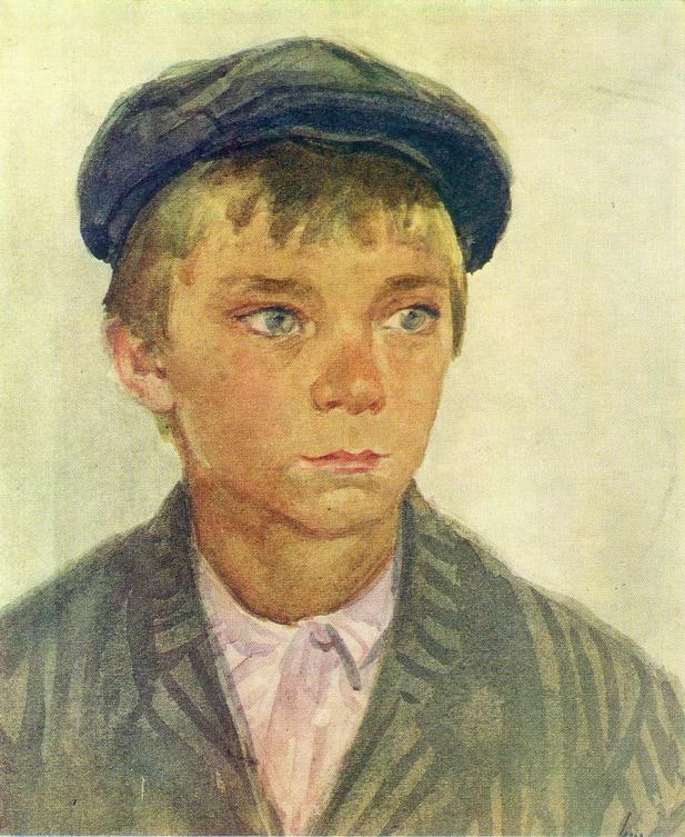 Boy in a cap. 1951