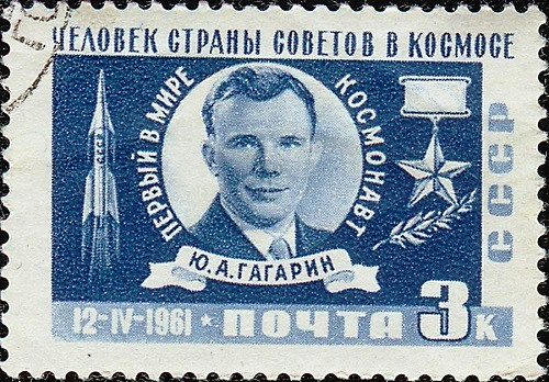 First in space Yuri Gagarin, 12 April 1961