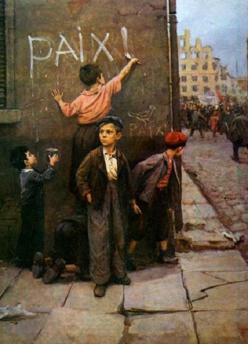 For Peace. 1954. Soviet artist Fyodor Reshetnikov. State Tretyakov Gallery