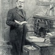Friedrich Engels in his study. 1939