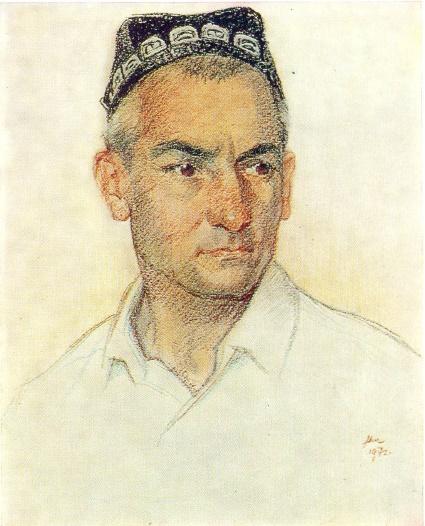 Khairullo Negmatov, economist of Lenin collective farm. Tajik SSR. 1972