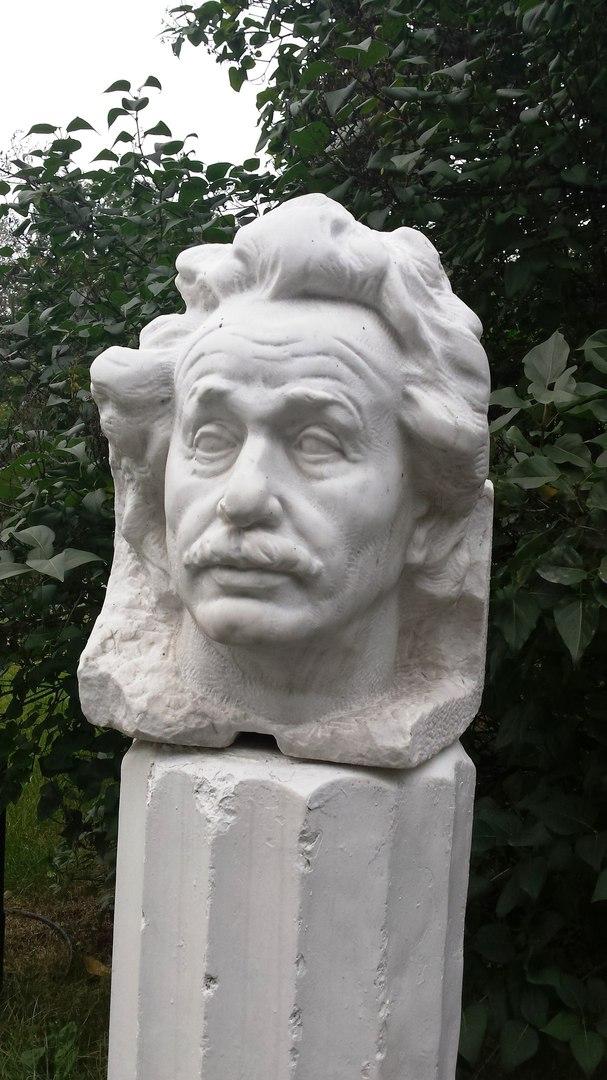 Marble bust of Albert Einstein. 1979. Museon, Moscow