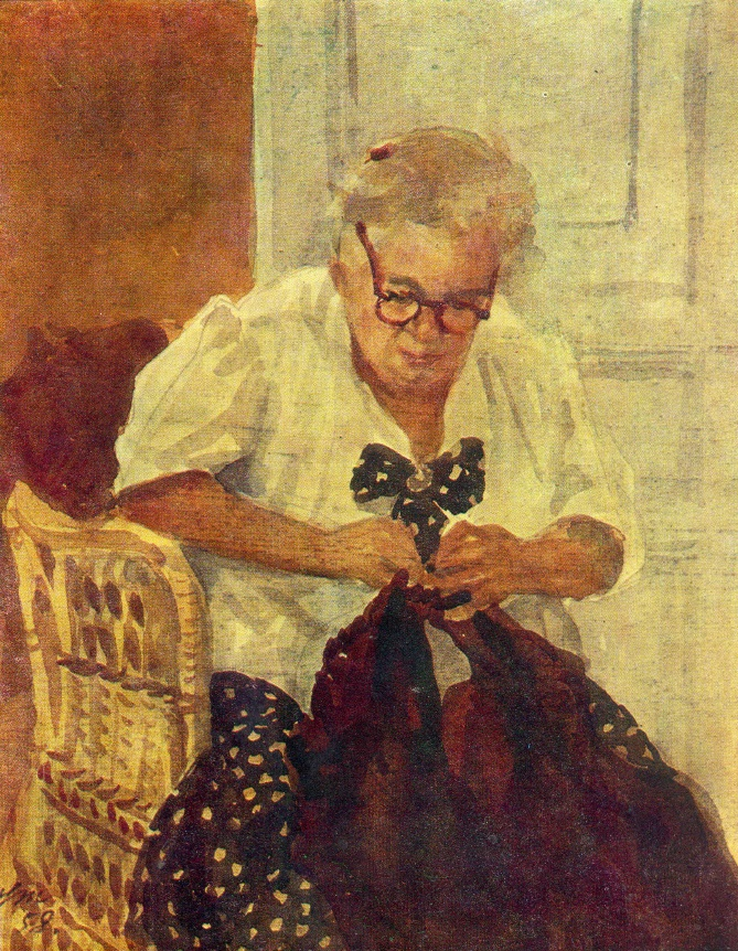 Mother's portrait. 1958