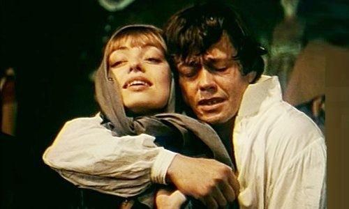 Soviet rock opera Juno and Avos. Nikolai Karachentsov (Nikolai Rezanov) and Elena Shanina (Conchita)