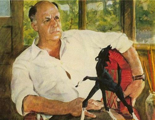 Soviet artist Nikolai Zhukov. Artist of the USSR Boris Livanov