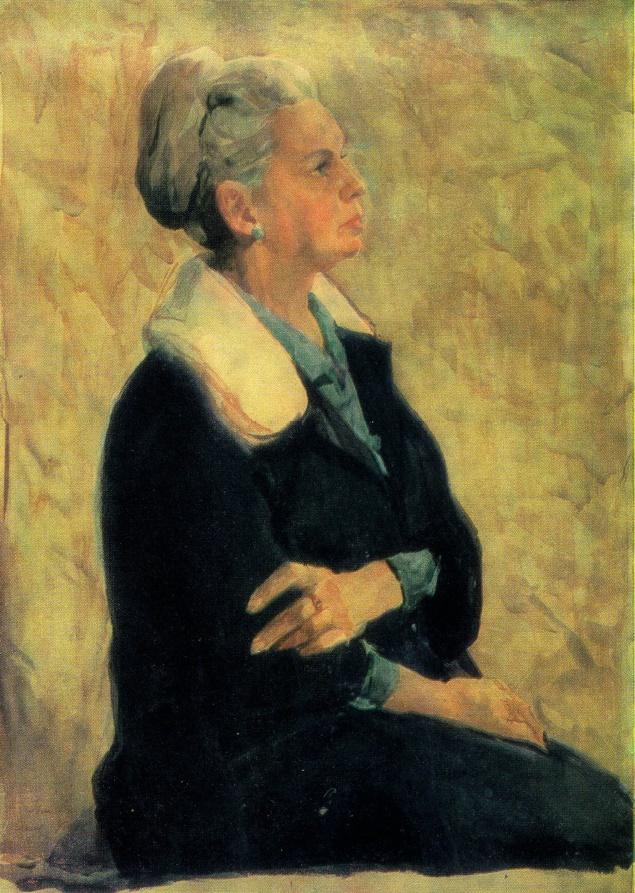 Portrait of Artist's wife. 1970