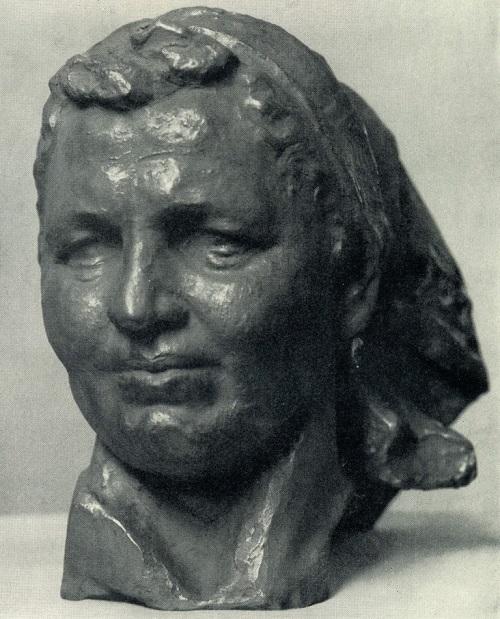 Portrait of a Hero of Socialist Labor milkmaid of state farm 'Ilyinsky' of Kostroma region A. Tikhomirova. 1971. Bronze. Sculptor Zalman Moiseevich Vilensky