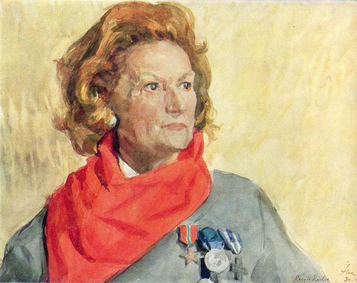 Rosina Becchi, the Italian partisan. 1971
