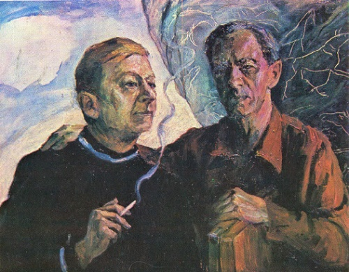 'Self-portrait with Sven'. Sven Grönvall (1908-1975), Finnish artist and close friend