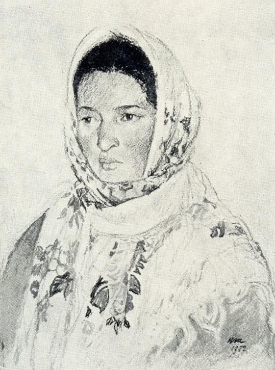 Solmaz Alieva, field-team leader of B. Abbasov state farm. Azerbaijan SSR. 1972