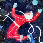 Soviet children painting Space