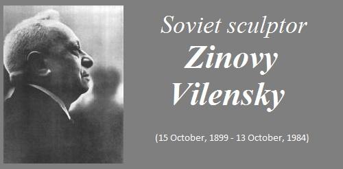 Soviet sculptor Zinovy Vilensky (1899-1984)