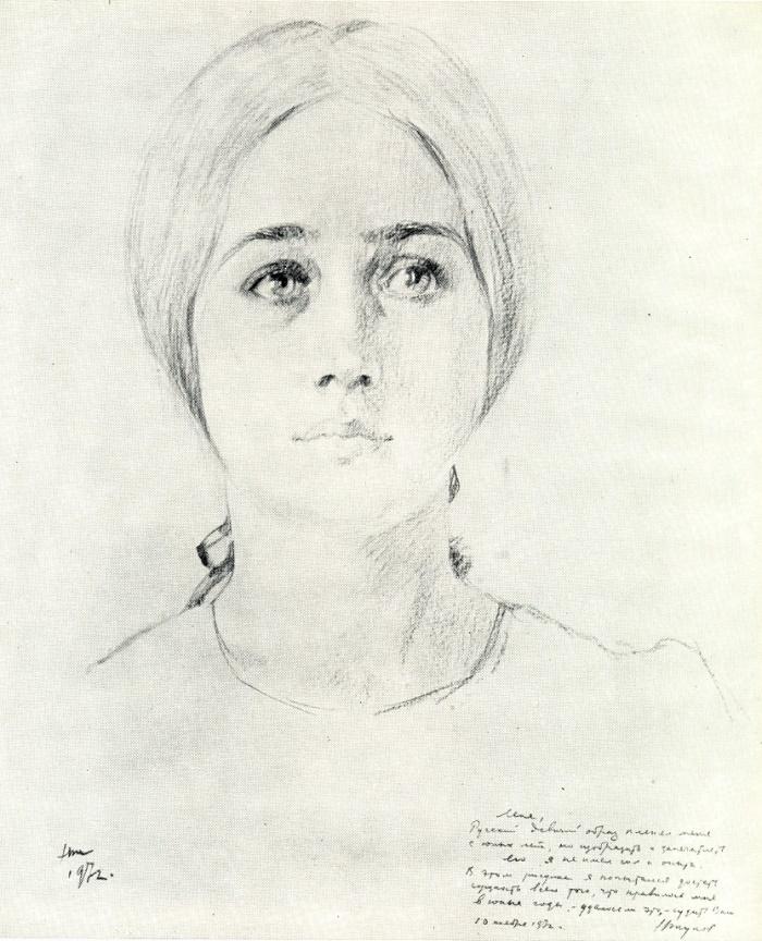 Student Lena Popova. 1972