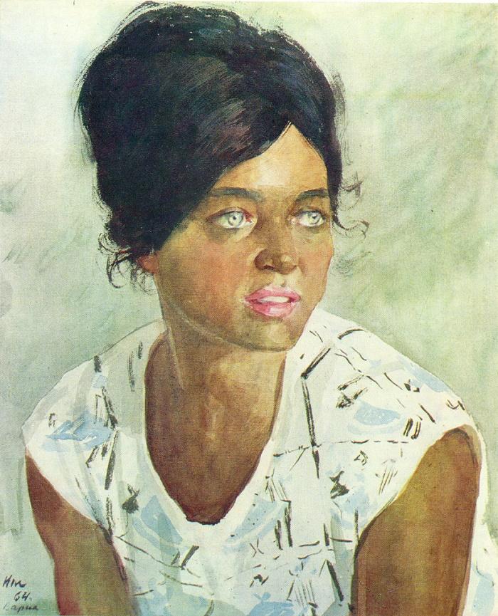 Yana, a Bulgarian girl. 1964