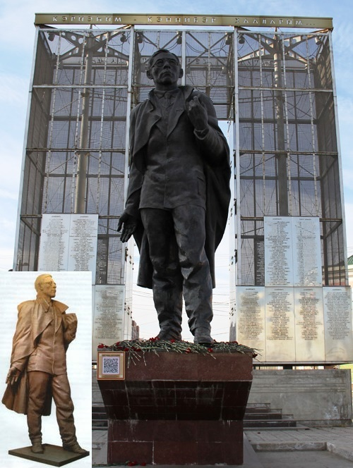 A monument to the founder of the Yakut Soviet literature, a prominent state and public figure, PA Oiunsky