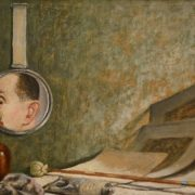 A. Shenderov (1897-1967). Self-portrait in a mirror (Still Life with Mirror). 1936