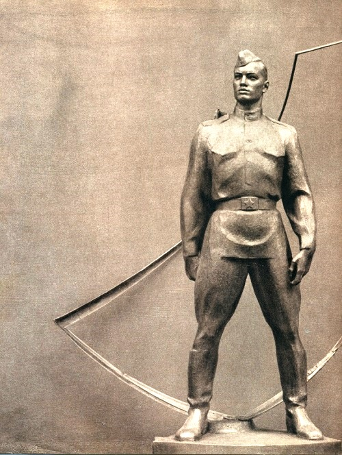 Soviet monumental propaganda. AE Belostotsky (born in 1921). On guard. 1964-1965. Metal, glass, concrete. Central Museum of the Armed Forces