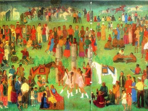 Painting by Soviet Yakut painter Afanasy Osipov (28 February 1928 — 11 September 2017)