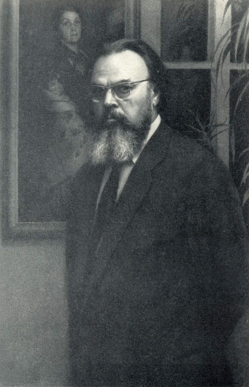 Alexander Ivanovich Laktionov (1910-1972). Self-portrait. 1969. Pencil, charcoal