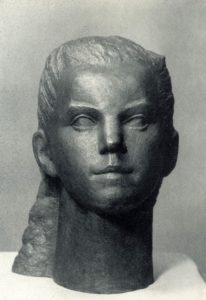 Soviet sculptor Alexandra Briedis