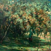 Apple trees. E.V. Shurlapova. 1988. Tomsk art museum