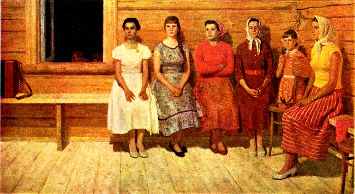 Before dances. 1961. oil. TG