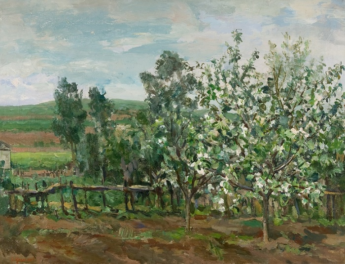 Blooming apple tree, 1935. 80x60