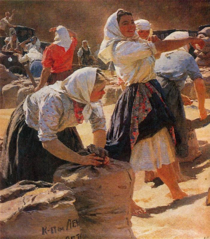 Bread. Fragment. 1949. Oil