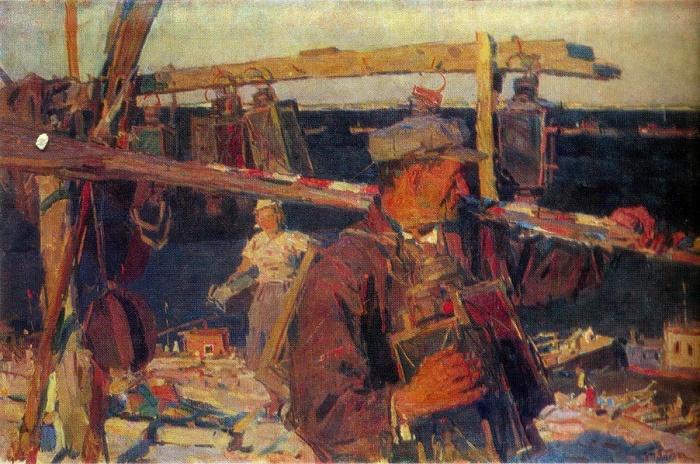 Evening on the Dnepr. 1947