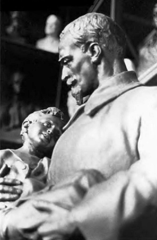 Felix Dzerzhinsky with a boy. 1953-1954