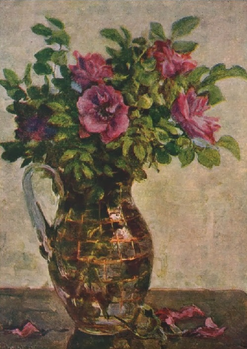 Flowers in a jug. Soviet artist Porphyry Krylov