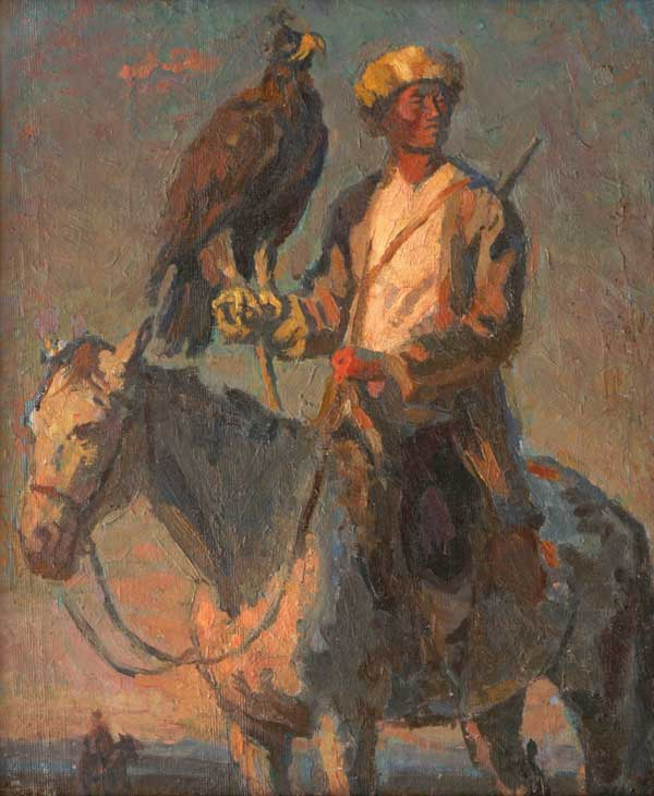 Hunter with a golden eagle. 1938