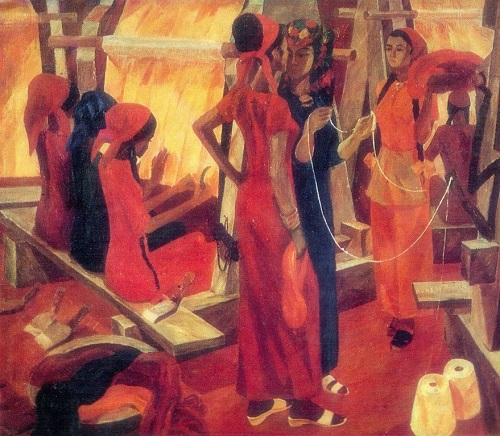 Glorification of labor in Soviet art