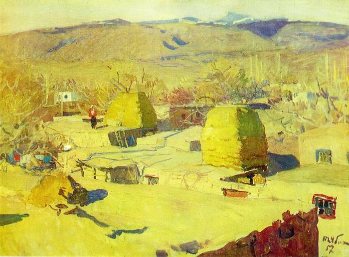 In Armenian village. 1957
