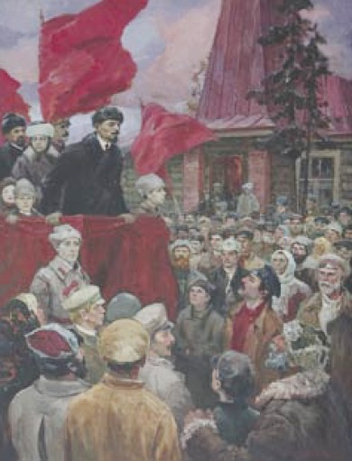 Ivan Semyonovich Petrov (1923). Speech of Lenin in the village. 1986