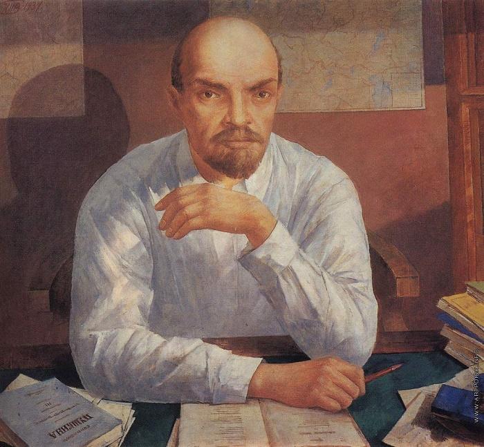 Kuzma Petrov-Vodkin 'Portrait of V.I. Lenin'