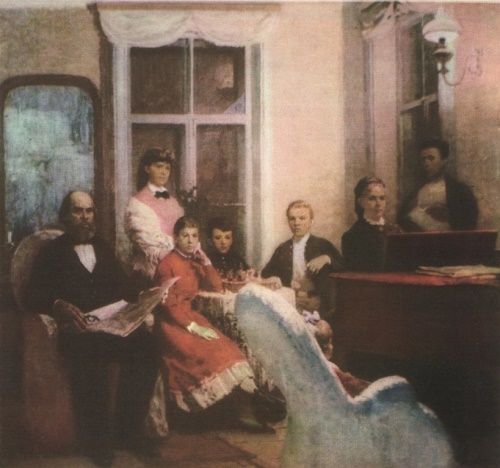 L. Kotlyarov. Ulyanov family. Oil. 1970