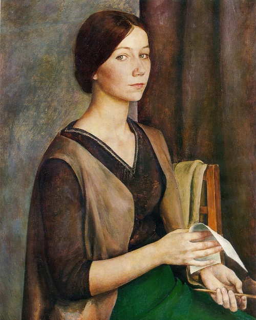Soviet painter Larisa Kirillova. . Self-portrait. 1974