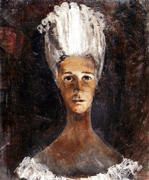 Lady, 1960s. Oil on canvas. Soviet artist Viktor Kabanov