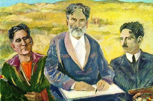 M. Saryan. Self-portrait. Three ages. Oil. 1943