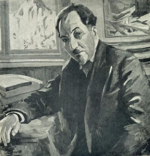 Poet Avetik Isaakyan. 1940. Oil